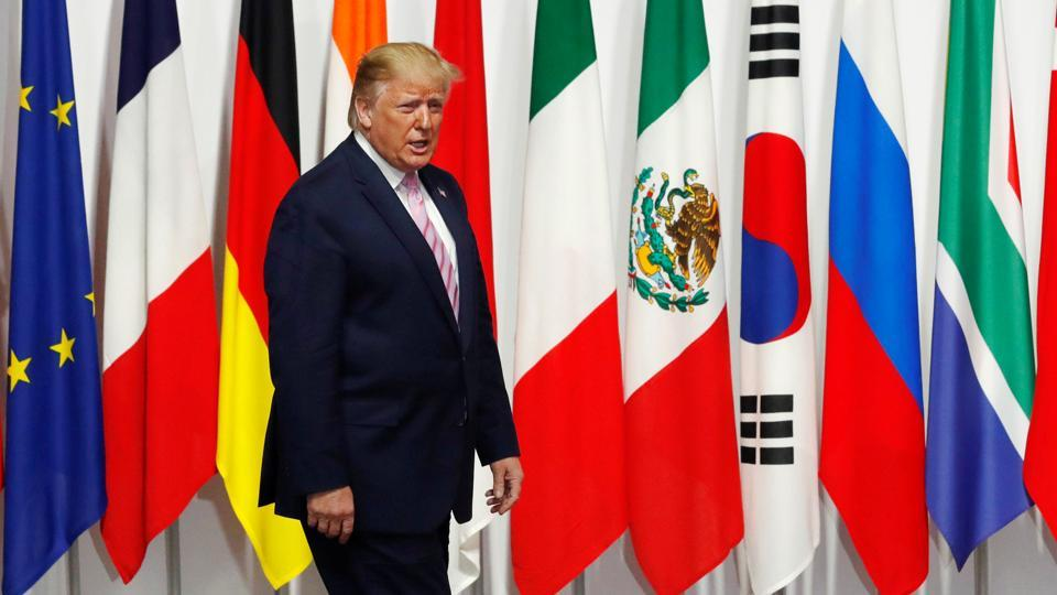 """US President Donald Trump, who has ratcheted up pressure on the Middle Eastern country, said there was """"absolutely no time pressure"""" on the issue."""