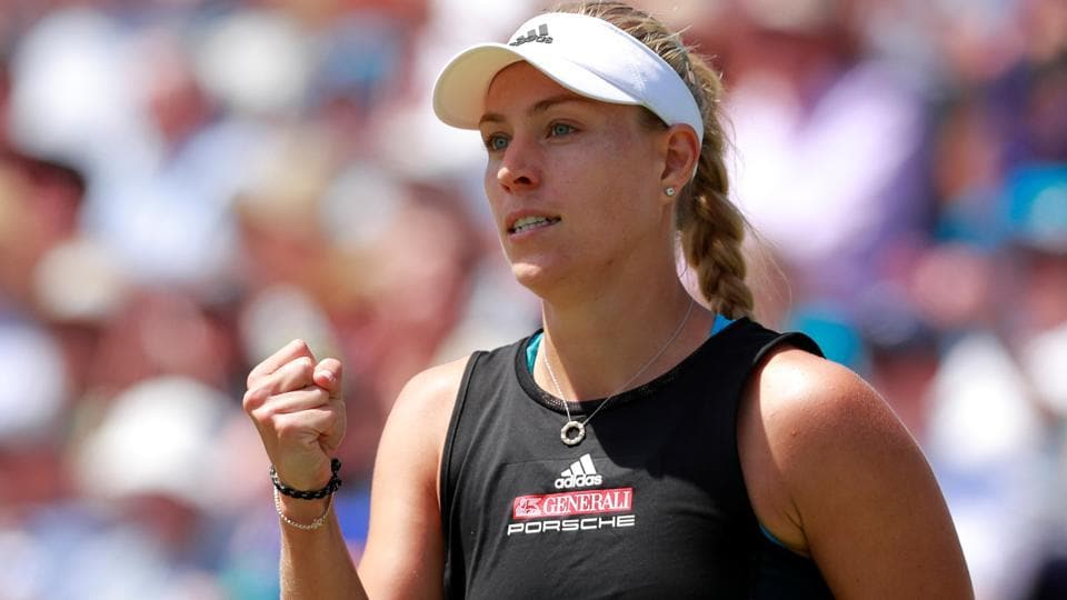 Angelique Kerber impresses in win over Simona Halep — WTA Eastbourne