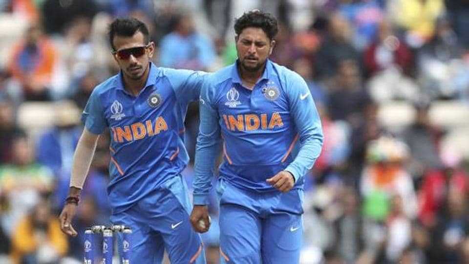 India's spin twins Yuzvendra Chahal and Kuldeep Yadav in action during the ICC World Cup 2019.