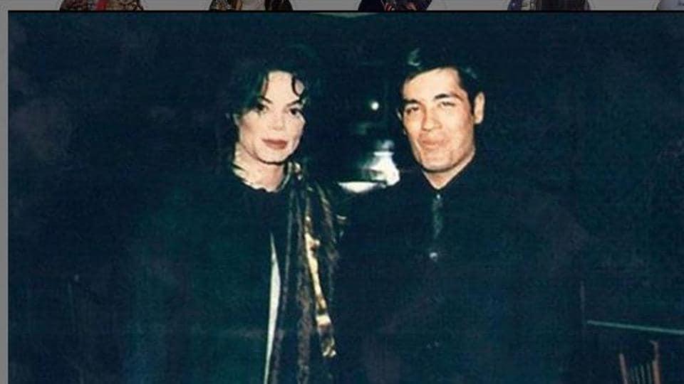 Manish Malhotra poses with popstar Michael Jackson.