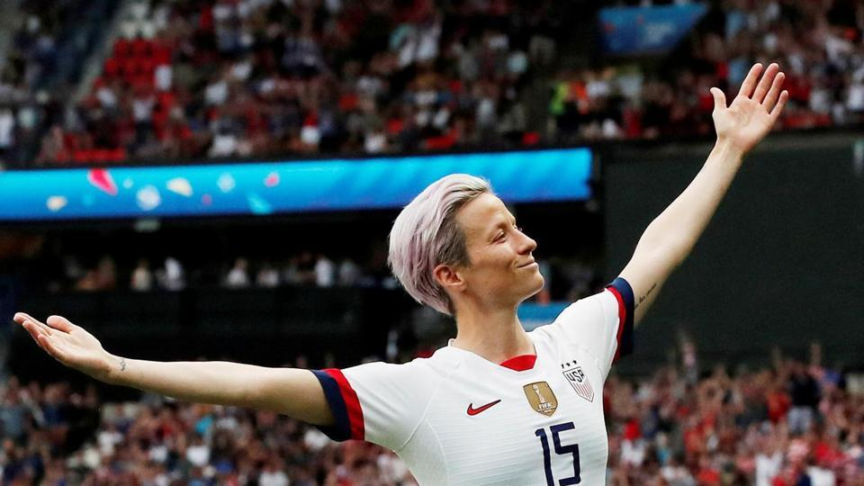 Rapinoe wasted no time in making an impact -- drilling in a low free kick through a crowded penalty area to open the scoring in the fifth minute.