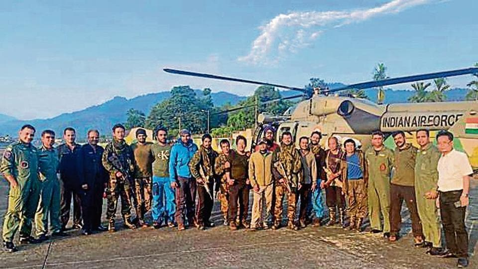 Rescue team airlifted by IAF after 2 weeks