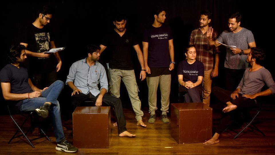 Students of Kreating Charakters Acting Institute at Four Bangalows, Andheri in Mumbai