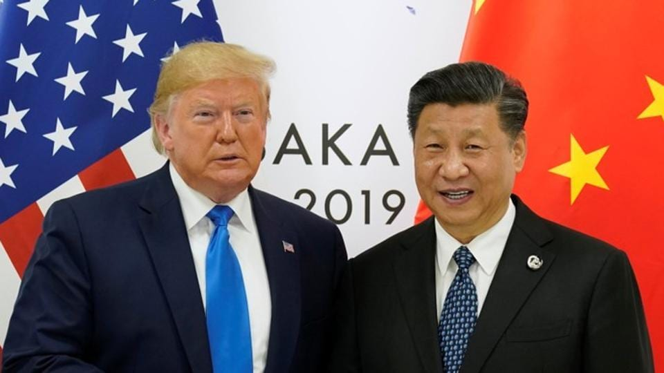U.S. President Donald Trump and China's President Xi Jinping poses for a photo ahead of their bilateral meeting during the G20 leaders summit in Osaka, Japan, June 29, 2019.