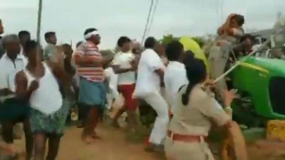 A video taken on a mobile phone by one of the forest guards showed that Krishna Rao was wielding a stick and attacking the forest staff.