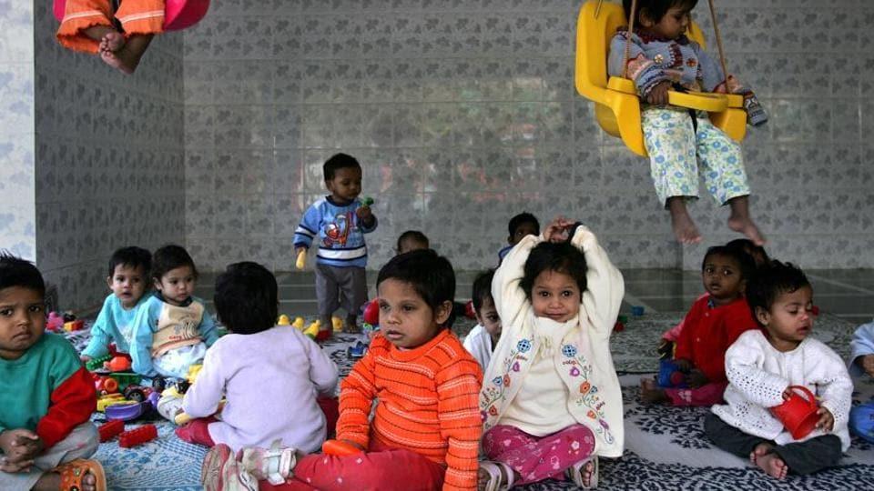 An adoption centre in Maharashtra, India.