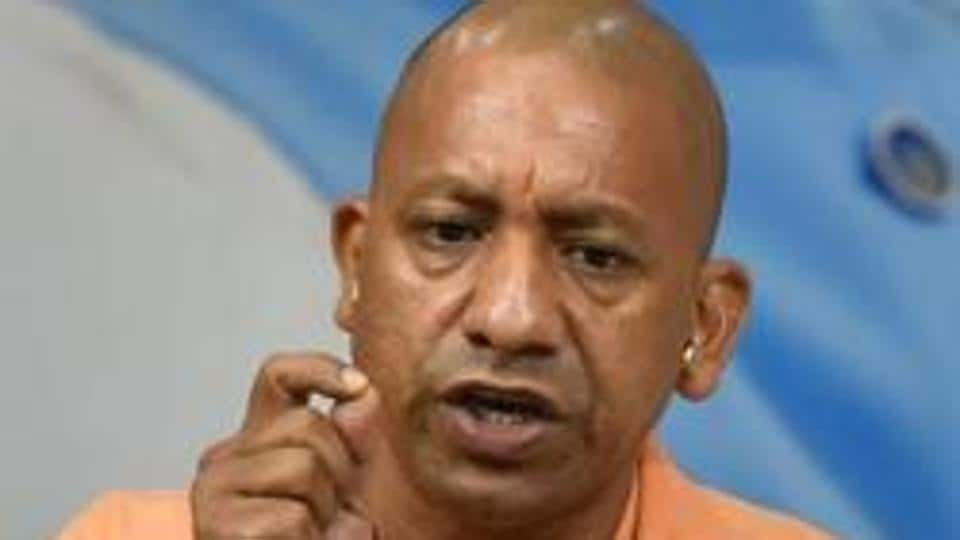 Kolkata, India - May 15, 2019: Uttar Pradesh chief minister Yogi Adityanath during a press conference at West Bengal State BJP head quarter in Kolkata, India, on Wednesday, May 15, 2019. One of his public meeting ahead of Lok Sabha election has been cancelled following alleged withdrawal of permission, (Photo by Arijit Sen/Hindustan Times)