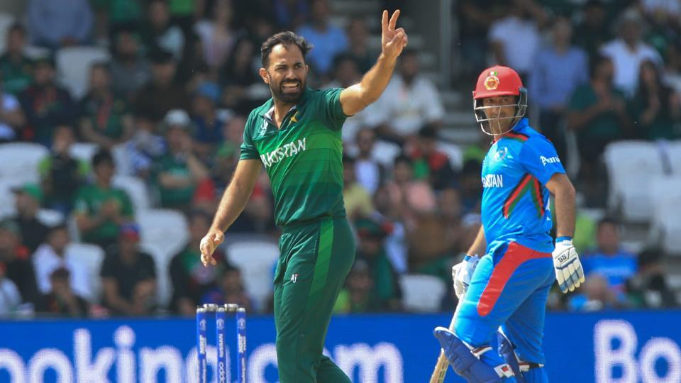 Wahab Riaz in action during the ICCWorld Cup 2019.