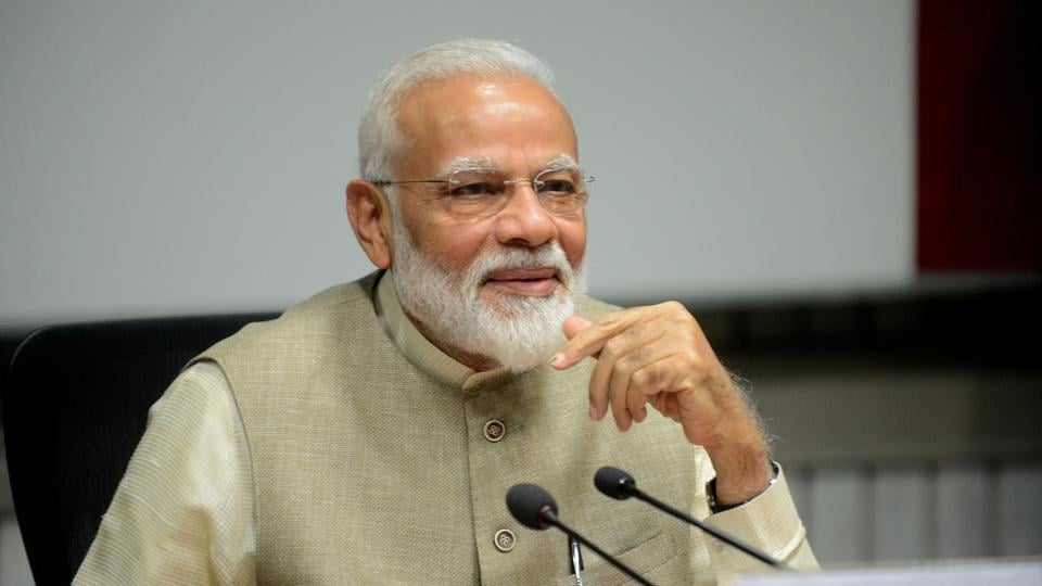 Prime Minister Narendra Modi during the all-party meeting before the Budget Session at Parliament in New Delhi.