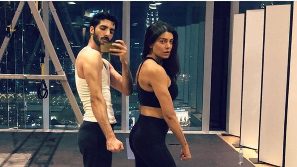 Sushmita Sen at the gym with boyfriend Rohman Shawl.