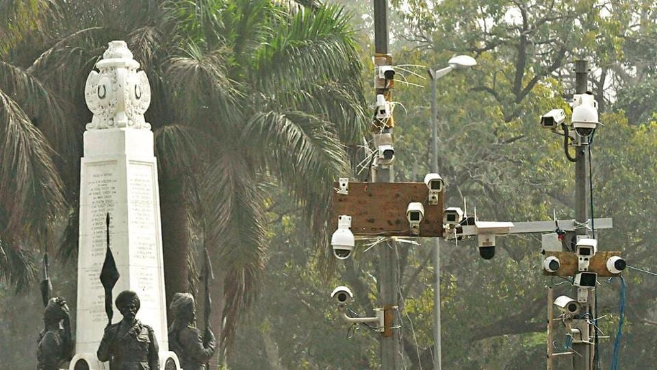 Installation of 1.4 lakh CCTV cameras in residential colonies and markets across the city began this month. (HT Photo)