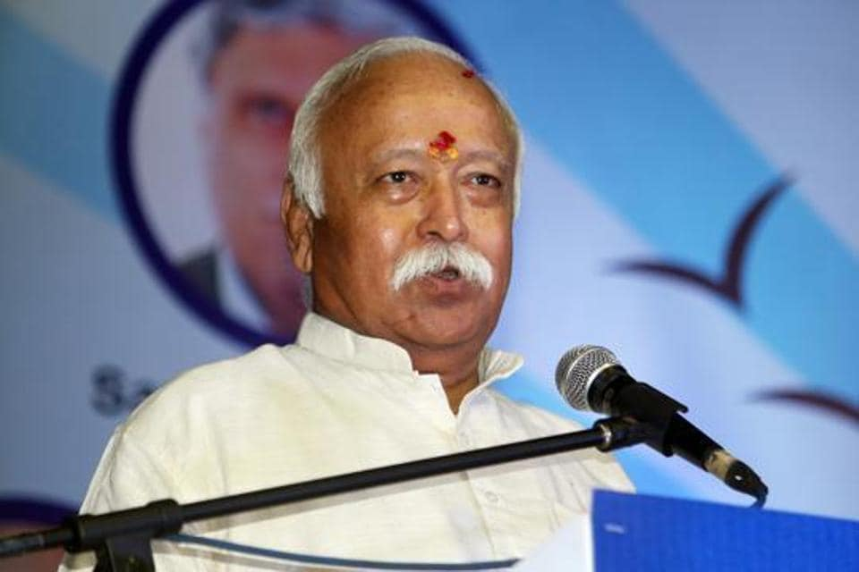 """In a joint statement on organisation's Twitter handle, the RSS president, Mohan Bhagwat, who is on tour and the general secretary Suresh Joshi said, """"We congratulate the government for this bold initiative which was very much necessary in national interest including the state of Jammu & Kashmir.'"""