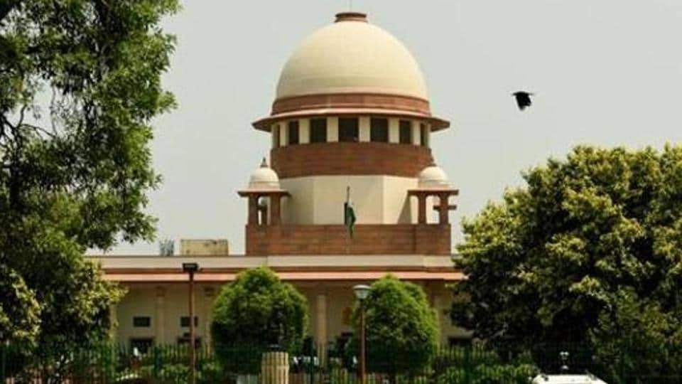 Seen here is the building of the Supreme Court in New Delhi.
