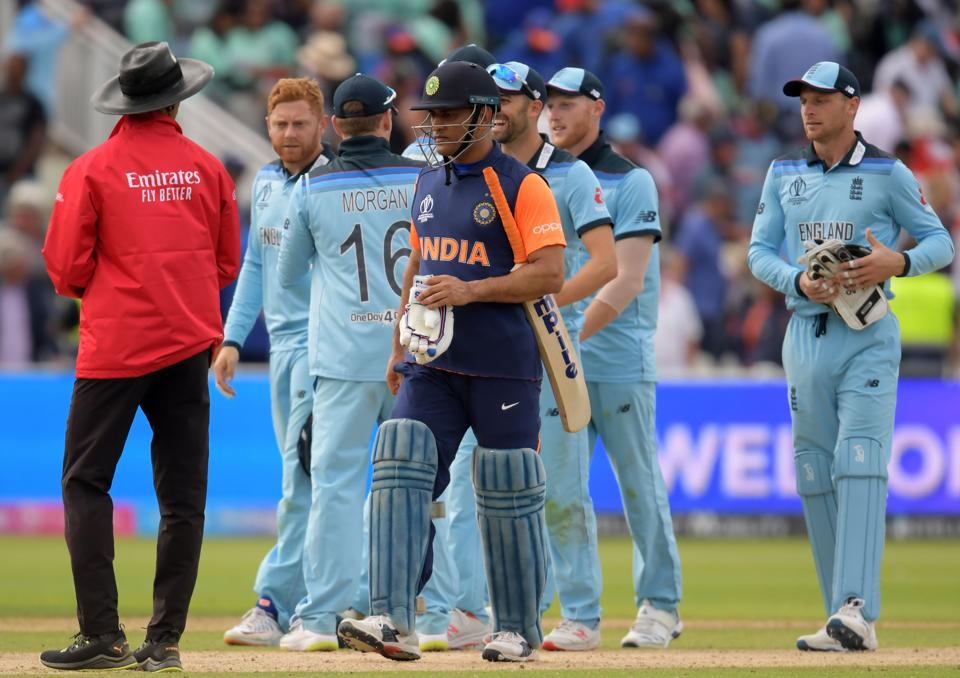 India lost to England in the ICC World Cup 2019.