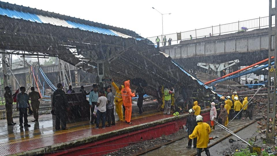 The foot over bridge collapse at Andheri in July 2018 left two people dead.