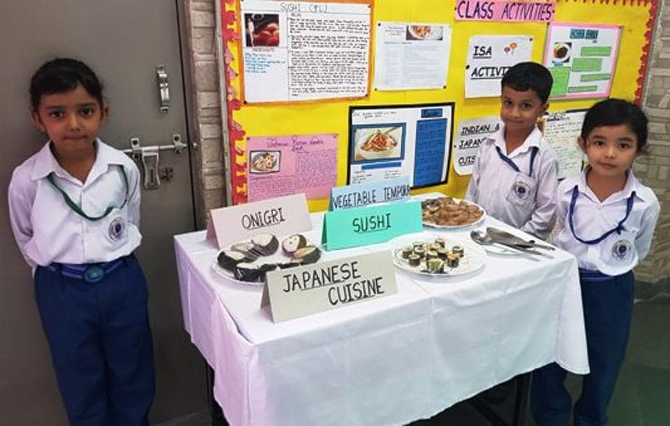 Students of Red Roses Public School enjoyed a Global Cuisine activity