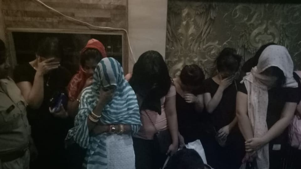 A statement by the Noida police said that they allegedly found prostitution rackets in all centres raided and the respective owners, staff, and clients present were booked.