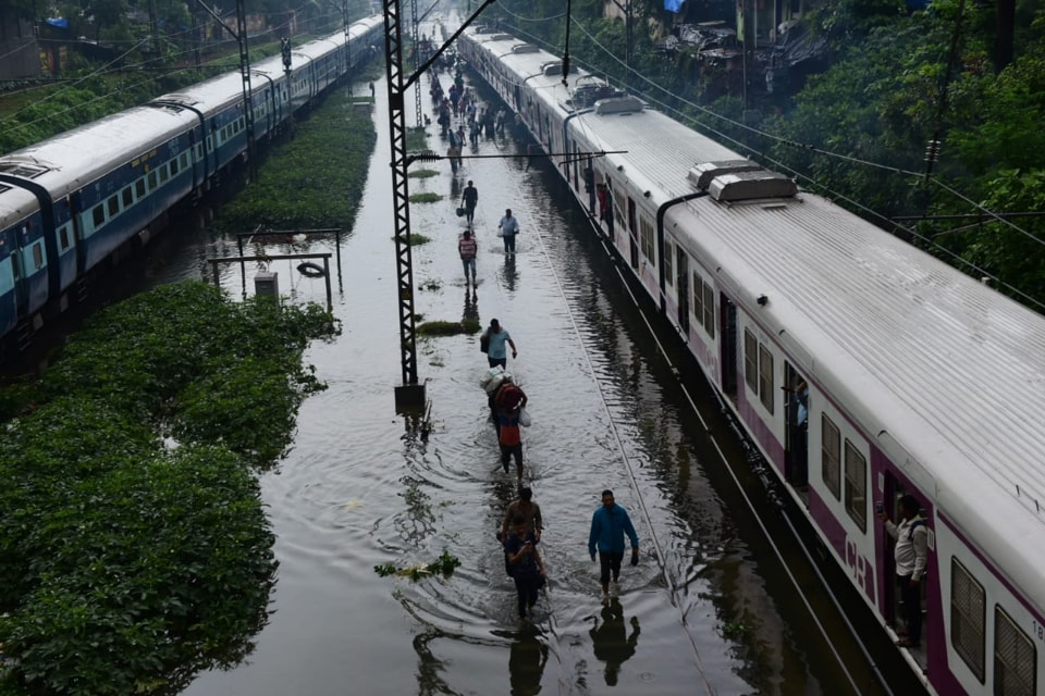 Western Railway said it is operating its suburban train services only between Churchgate and Virar stations after several tracks were flooded following heavy rains.