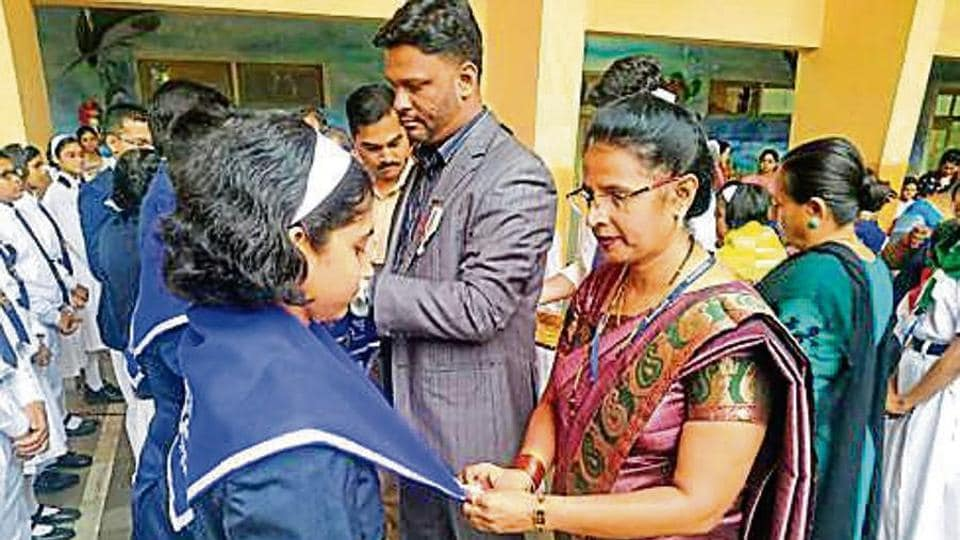 St Xavier's High School, Shanti Park, recently organised its investiture ceremony