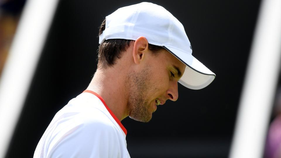Austria's Dominic Thiem during his first round match against Sam Querrey.