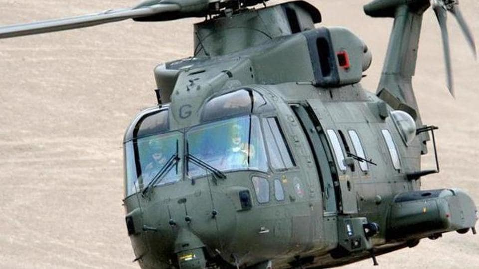 A photo of AgustaWestland AW101 chopper, configured to meet diverse roles for pre-dominantly Maritime and Utility tasks. Photo: