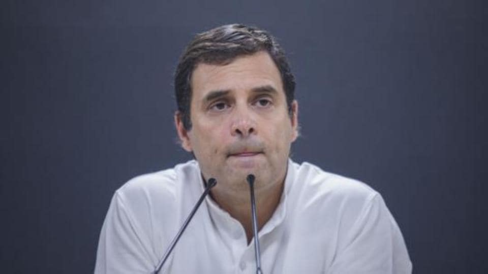 Congress leaders and workers staged a sit-in on Tuesday to cajole an unrelenting Rahul Gandhi to reconsider his decision to step down as party president.
