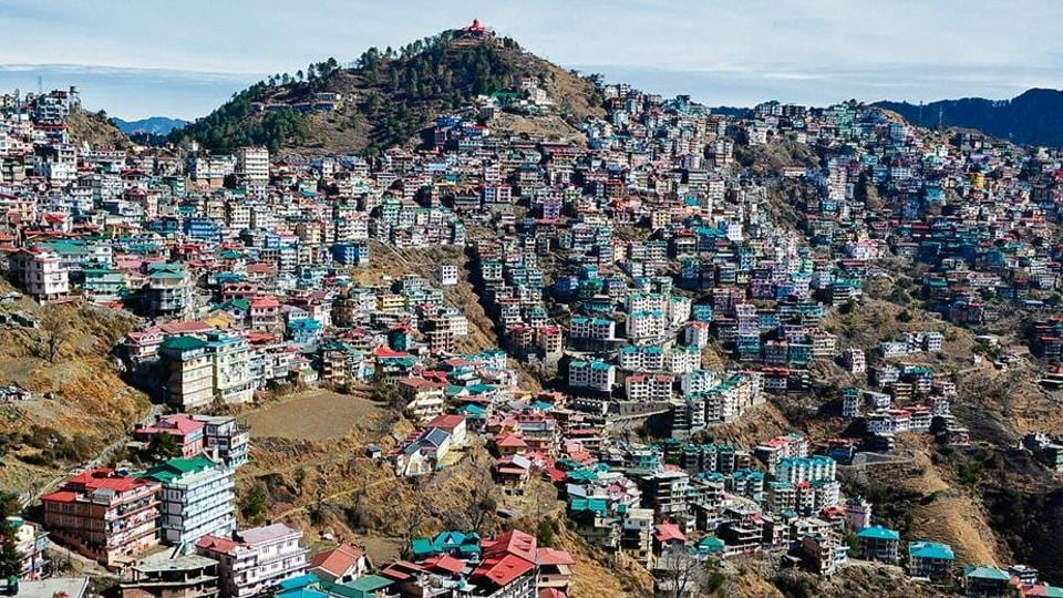 Haphazard construction and traffic congestion are Shimla's two main problems.
