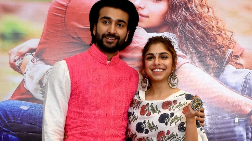 Actors Meezaan Jaffrey and Sharmin Segal at a press conference during the promotions of their upcoming film Malaal.