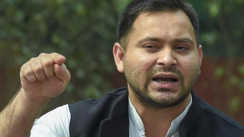 Tejashwi Yadav told reporters that he was in Delhi for treatment of his leg injury.