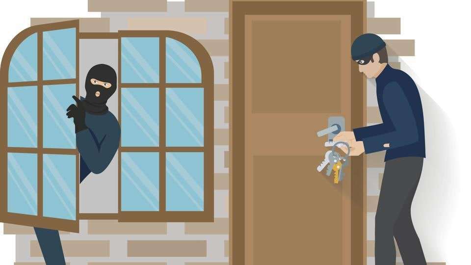 In all three instances, the thefts took place when the occupants were away from their homes.