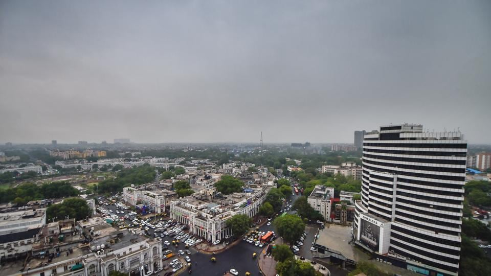 Pre-monsoon clouds cover the sky above New Delhi, Thursday, July 4, 2019.