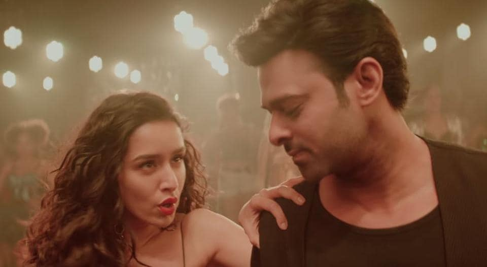 Shraddha Kapoor and Prabhas in a still from Psycho Saiyaan teaser.