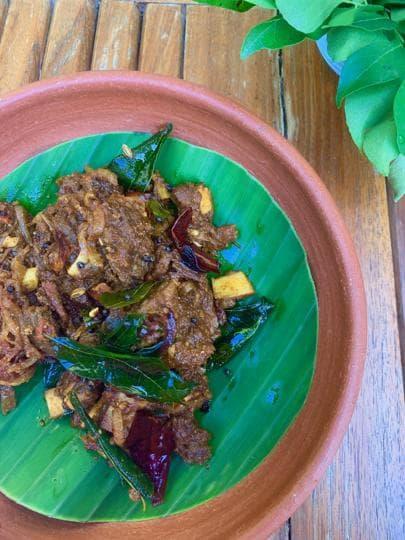 The famous Beef Ularthiyathu of Kerala is a Syrian-Christian dish