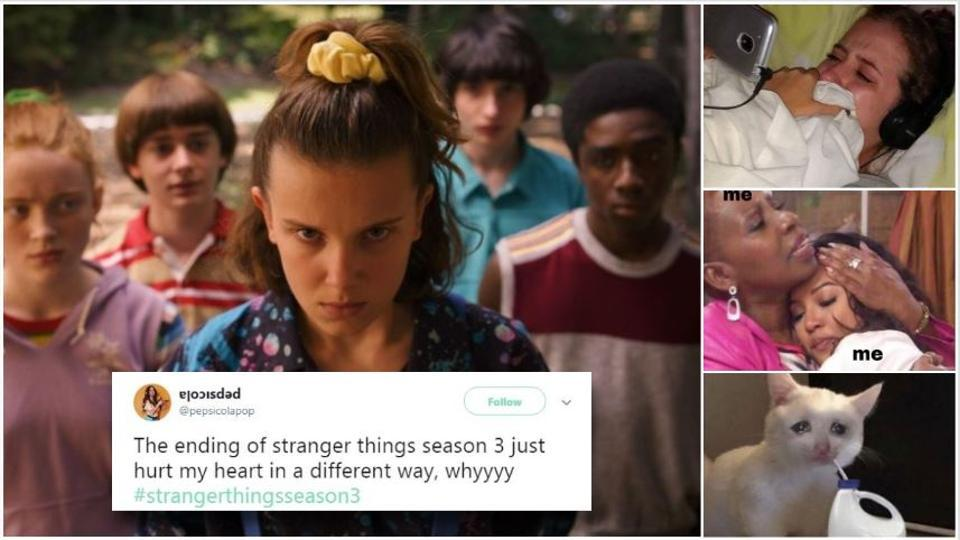 Fans are overcome with emotions at the ending of Stranger Things.
