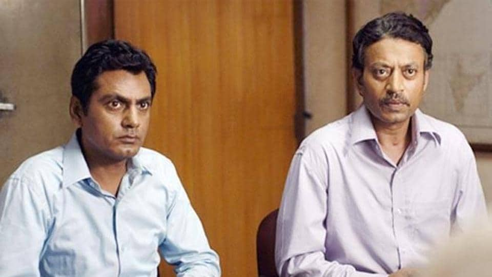Irrfan Khan and Nawazuddin Siddiqui in a still from The Lunchbox.