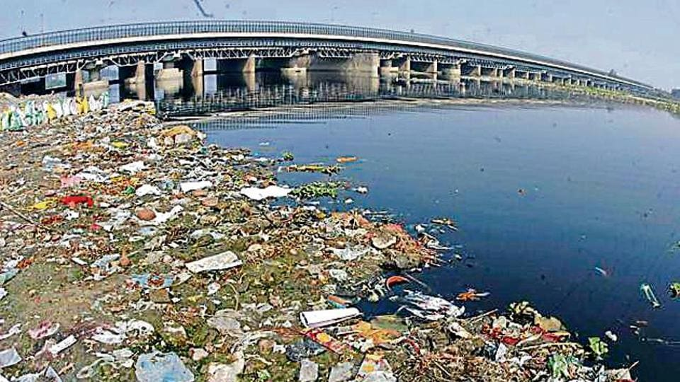 Many households release sewage into storm water drains, which reaches the Yamuna and pollutes the river.