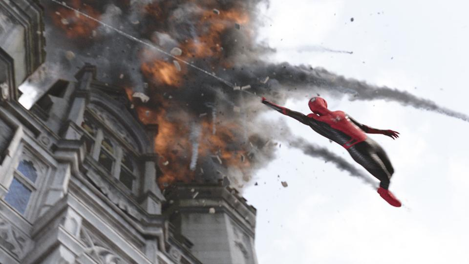 Tom Holland in a scene from Spider-Man: Far From Home.
