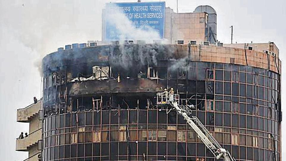 Officials said the cause of the fire is suspected to be a short circuit in an air conditioner on the sixth floor.