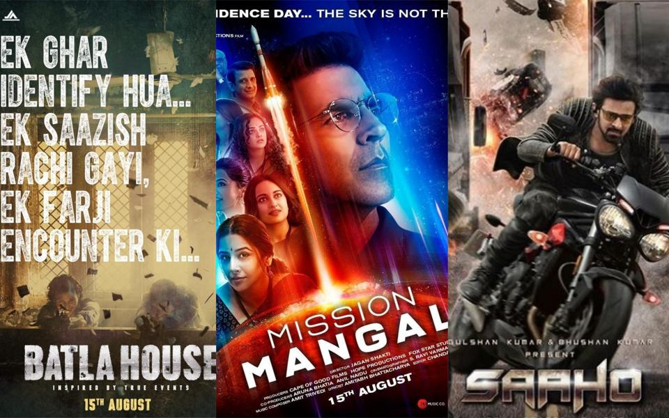 Mission Mangal, Batla House and Saaho to clash this Independence Day.