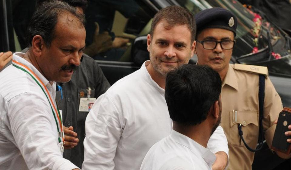 Gandhi appeared before the court of Justice Kumar Gunjan and pleaded innocence and said that all allegations labelled against him were false. The court asked him to submit two sureties of Rs 10,000 each for regular bail.