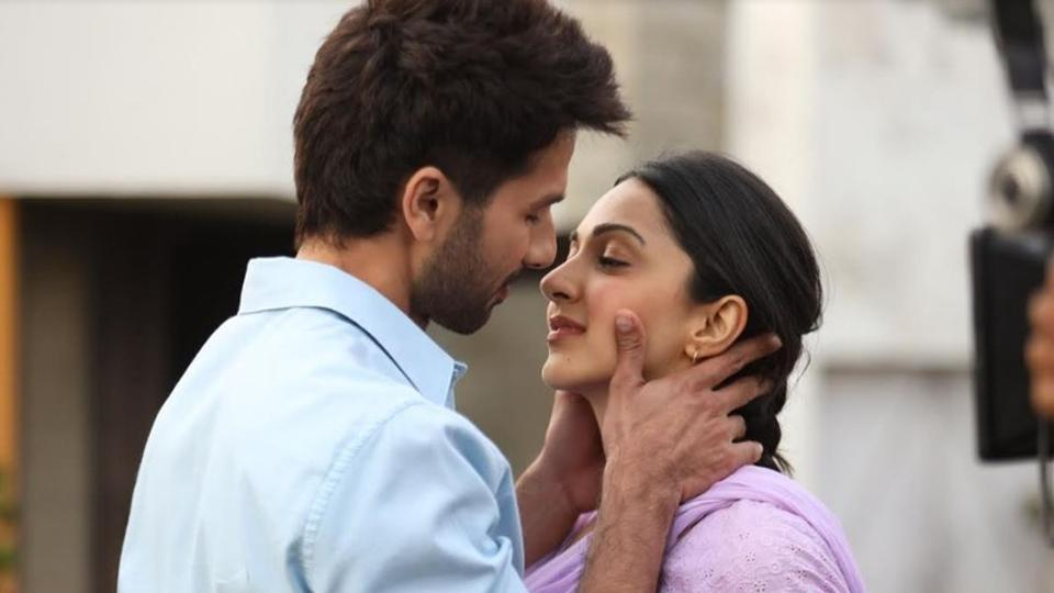 Shahid Kapoor and Kiara Advani in a handout still from Kabir Singh.