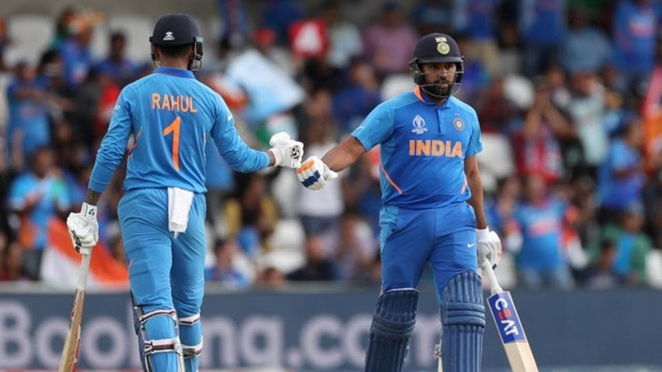 ndia's Rohit Sharma and KL Rahul during the match. (Reuters)