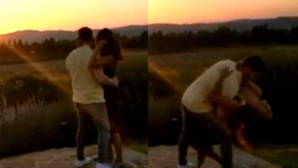 Priyanka Chopra  and Nick Jonas are vacationing in Tuscany these days.