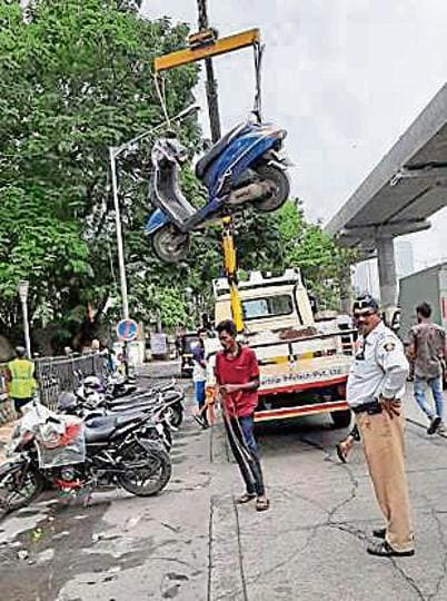 On Sunday, 63 vehicles were towed away for illegal parking.
