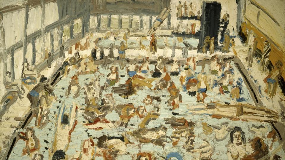 Artist Leon Kossoff,Leon Kossoff,post-war London