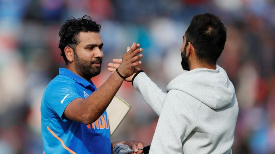 Cricket - ICC Cricket World Cup - South Africa v India - The Ageas Bowl, Southampton, Britain - June 5, 2019 India's Rohit Sharma celebrates at the end of the match Action Images via Reuters/Paul Childs