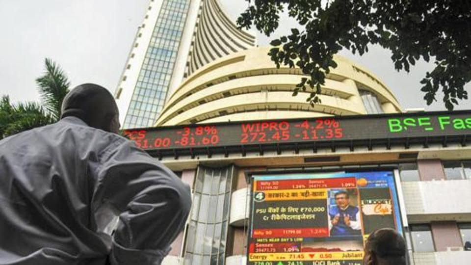 Top losers in the Sensex pack included Hero MotoCorp, L&T, Maruti, Bajaj Auto, M&M, Tata Motors and HUL, falling up to 3.44 per cent.