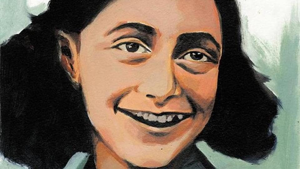 "Anne Frank portrait by Aksh Garg, Bal Bharati Public School, Rohini. "" I keep my ideals, because in spite of everything I still believe that people are really good at heart.I can't build up my hopes on a foundation consisting of confusion, misery and death."""