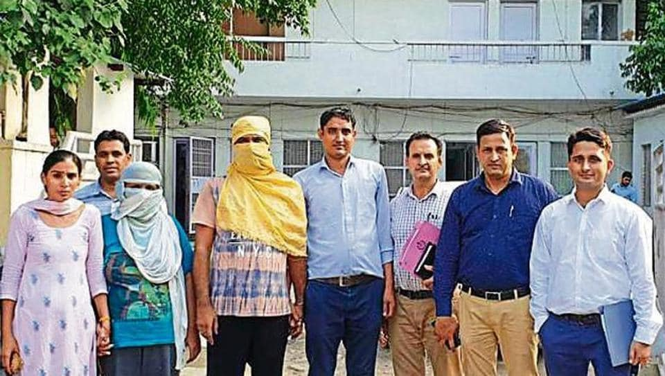 Suspects Preeti Sehrawat and Manoj Bhatt (faces covered) were sent to jail on Saturday.