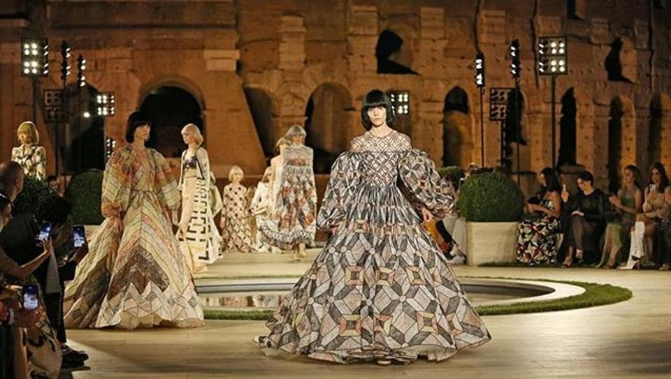 On a catwalk overlooking the Colosseum, Italian luxury label Fendi paid homage to Karl Lagerfeld with a